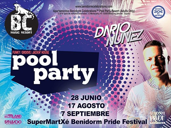 Pool party by dj dario nuÑez benidorm celebrations™ music resort (adults only) apartments